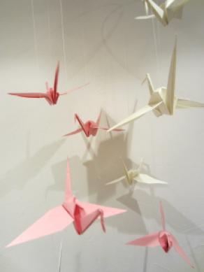 Origami Kraniche Mobile basteln @ohwiewundervoll.com