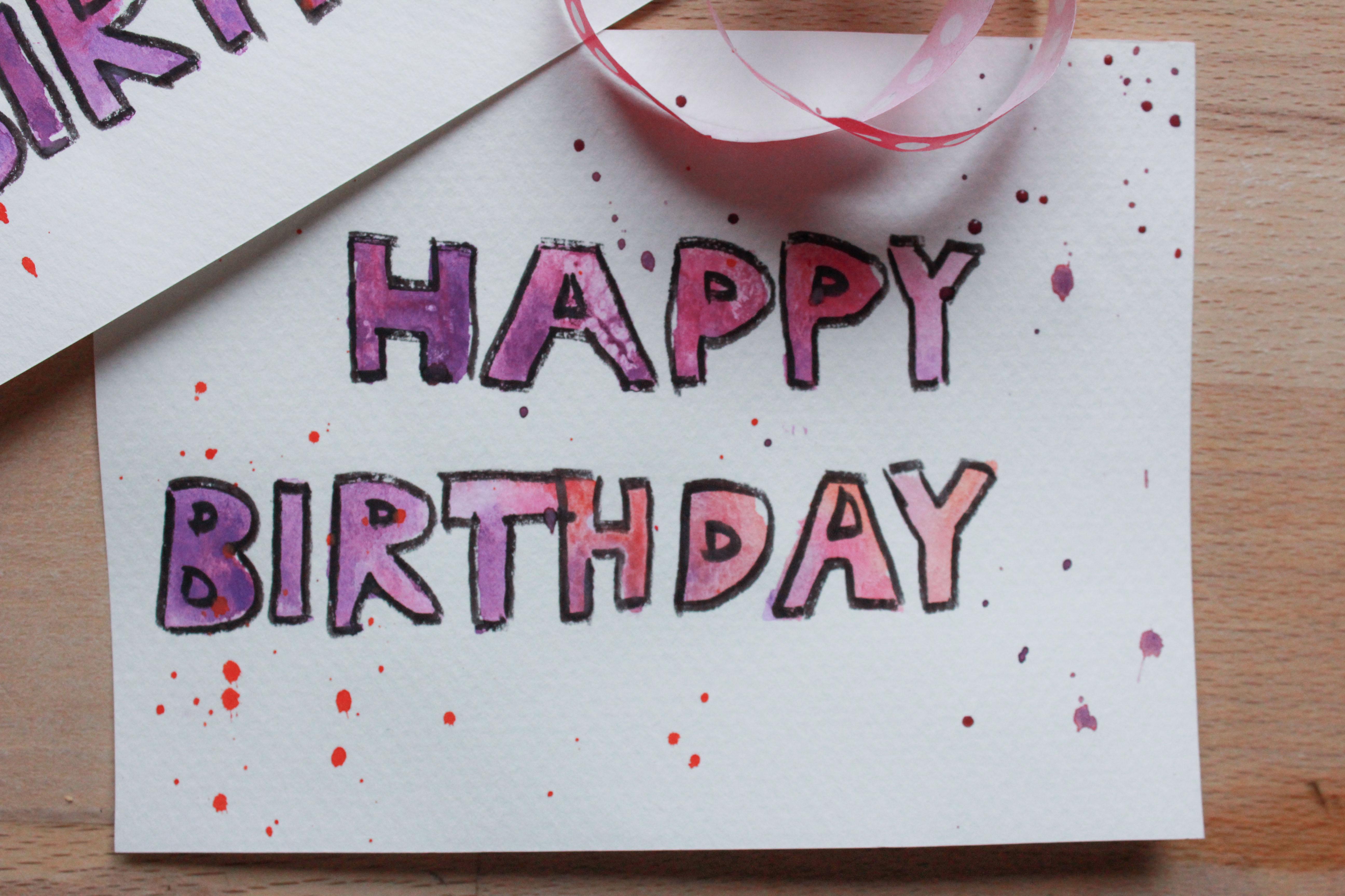 Geburtstagskarte Oh Wie Wundervoll